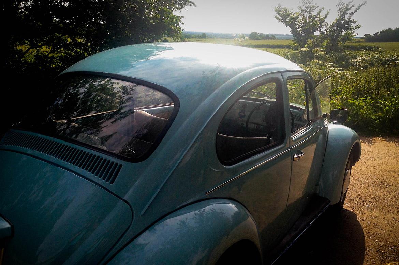 Borrowed and Blue VW Wedding Car